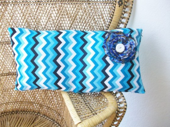 Chevron Pillow made from a blouse